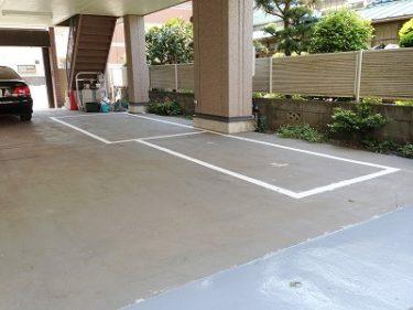 大和市 Kオフィス 駐車場ライン引き塗装