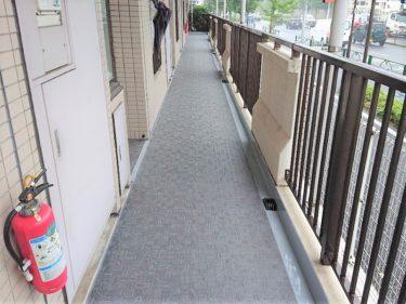 東京都三鷹市 Sマンション 共有廊下長尺シート防水工事
